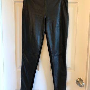 pants faux leather front legging back